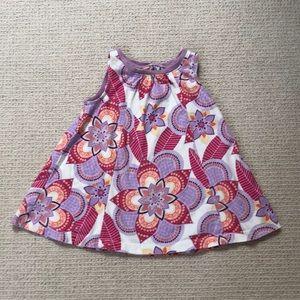 Tea flower swing dress, size 12-18 months